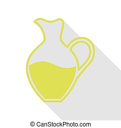 Amphora sign. Pear icon with flat style shadow path.