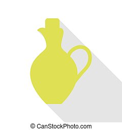 Amphora sign illustration. Pear icon with flat style shadow...