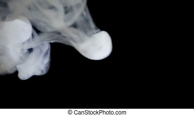 sidestream smoke in the dark slow motion