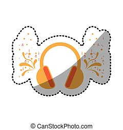 headphone icon stock image, vector illustration design