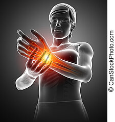 Women Feeling the Wrist Pain
