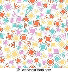 Seamless primitive geometric patterns for tissue and postcards.