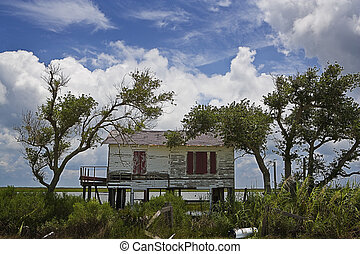 Abandoned Fish Shack - An old, abandoned shack on stilts...