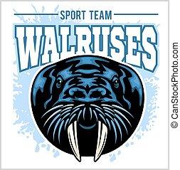 Vector Walrus logo template for sport teams, business etc. -...