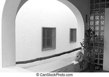 white house arch detail mediterranean architecture...