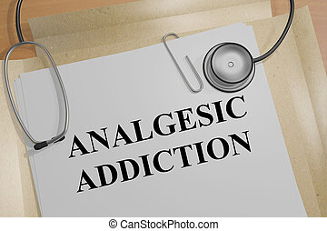 Analgesic Addiction - medical concept - 3D illustration of...