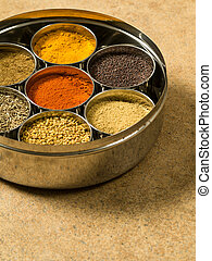 Masala box spices - Photo of a Masala box containing...