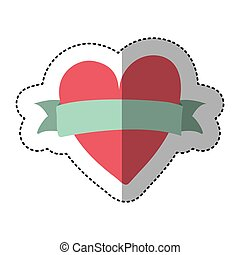 heart icon stock image, vector illustration design