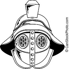 Gladiator helmet illustration - An illustration of a...