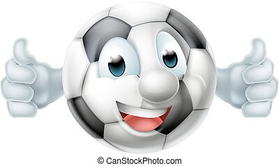 Cartoon Soccer Ball Man Character - A happy cartoon football...