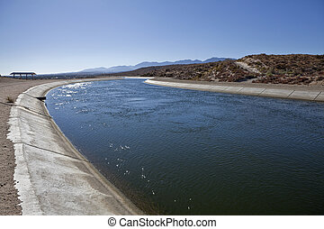 California Aquaduct - The California Aqueduct, 273 miles...