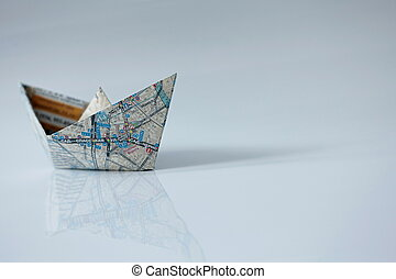 ship on the right course