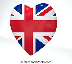 UK Heart Flag
