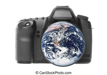 Planet Earth Camera Isolated