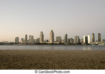 San Diego Skyline at Sunset