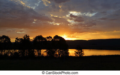 Sunset silhouette in Penrith - Beautiful clouds at sunset...