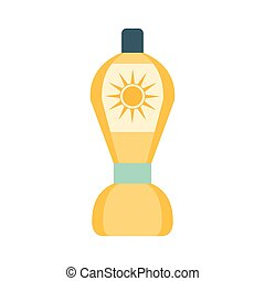 After Sun Lotion Cosmetic Product In Yellow Bottle, Part Of...