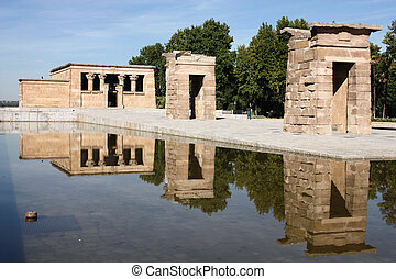 Madrid - Temple of Debod - Egyptian temple rebuilt in...