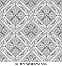 Old slavonic seamless pattern beige. vector illustration