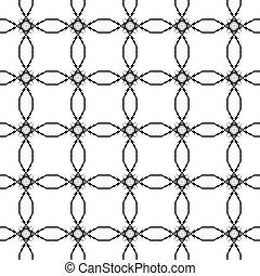 patrón, Extracto,  seamless, Ilustración, Plano de fondo, negro,  vector, blanco, geométrico, círculo