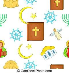Beliefs pattern, cartoon style - Beliefs pattern. Cartoon...
