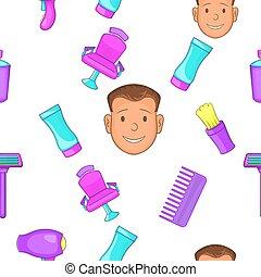 Hair cut pattern, cartoon style - Hair cut pattern. Cartoon...