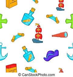 Pioneer pattern, cartoon style - Pioneer pattern. Cartoon...