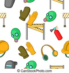 Building tools pattern, cartoon style - Building tools...