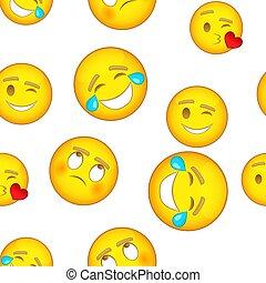 estilo, personagem, caricatura, Padrão,  emoji