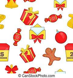 Christmas pattern, cartoon style - Christmas pattern....