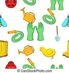 styl, próbka, rysunek, utrzymanie, ogród