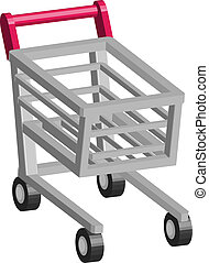 Retail Cart Illustration - An illustration of Shopping cart...