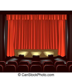 theatre illustration - an empty theatre stage for you to...