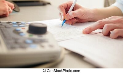 Ophthalmology - doctor writes a report of the diagnosis,...