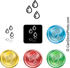 water droplets icon symbol - Several versions of an icon...