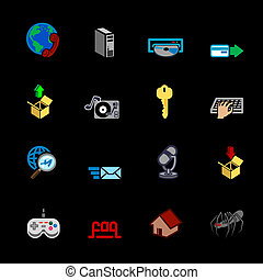 Internet web icon series set - A series of internet web...