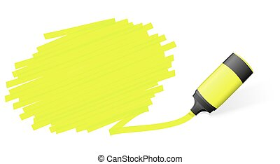 highlighter with marking - yellow colored high lighter with...