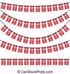 garlands with danish national colors - different garlands...