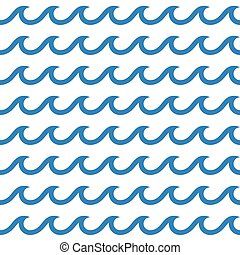 seamless waves background - blue and white colored seamless...