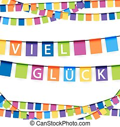 garlands for lucky time - colored garlands background with...