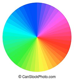 color wheel with different colors - illustration of printing...