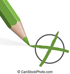 green pencil for selection - green colored pencil drawing...