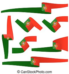collection of Portuguese country flag banners - collection...