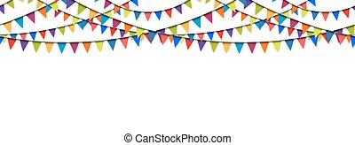 seamless garland background - seamless colored garlands...