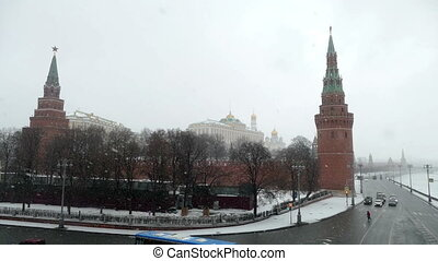 Kremlin in winter and snow