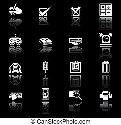applications icon set