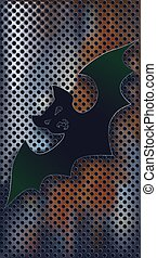Bat against texture, objects are conveniently grouped on...