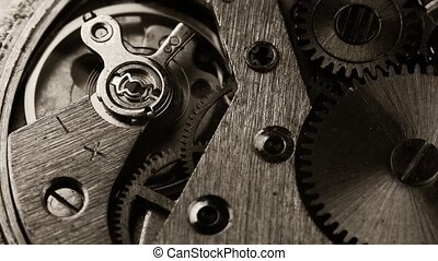 old clock gear mechanism