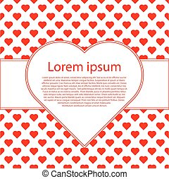 Valentines Day Vintage Background With red hearts and text frame