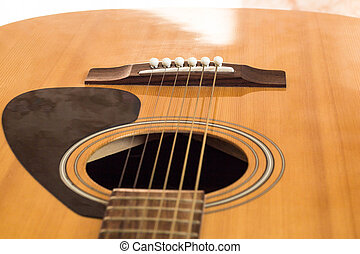 detail of classic guitar with shallow depth field - detail...